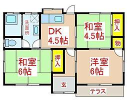 川田借家 1階3DKの間取り