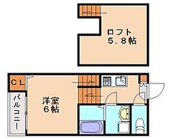 STAGE香住ヶ丘[1階]の間取り