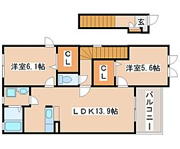 ルマージュ神戸5番館[2020号室]の間取り