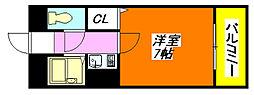 オーナーズマンション・菱屋 703号室[7階]の間取り