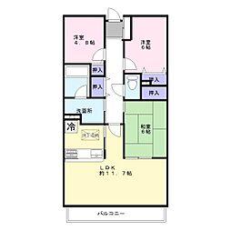 ライオンズマンション加古川[4階]の間取り