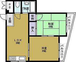 ノーブル夕凪[2階]の間取り