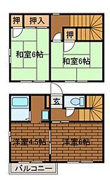 [テラスハウス] 神奈川県相模原市南区西大沼1丁目 の賃貸【/】の間取り