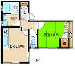 兵庫県姫路市御立西1丁目の賃貸アパートの間取り