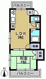 清和コーポ[3D-kk号室]の間取り