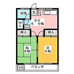 ロイヤルマンションZERO[2階]の間取り