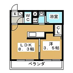 NICO麻生[3階]の間取り