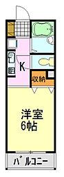 ライトピア村田[105号室]の間取り