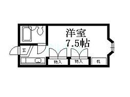 京都府京都市東山区上池田町の賃貸マンションの間取り