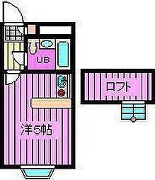 ベルピア北大宮第1-2[2階]の間取り