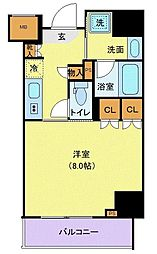 東京メトロ有楽町線 江戸川橋駅 徒歩5分の賃貸マンション 5階1Kの間取り