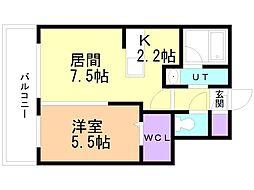 癒禅(ユウゼン)32 3階1LDKの間取り