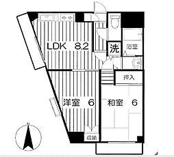 メルベーユ山手台[4階]の間取り