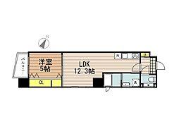 JR京浜東北・根岸線 さいたま新都心駅 徒歩10分の賃貸マンション 2階1LDKの間取り