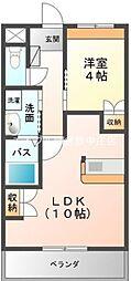 岡山県倉敷市南畝6の賃貸アパートの間取り