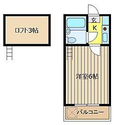 レモンハウス上福岡[107号室]の間取り