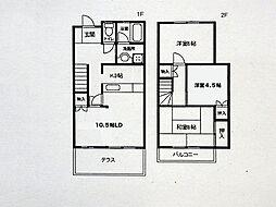 [タウンハウス] 兵庫県神戸市西区大津和2丁目 の賃貸【/】の間取り