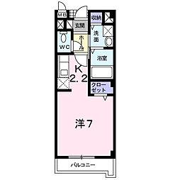 神奈川県厚木市林3丁目の賃貸アパートの間取り
