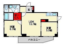 CSスタイル高須[301号室]の間取り