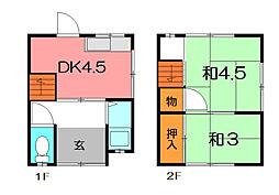 橋本文化 南棟[1階]の間取り
