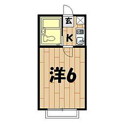 オッコーララ二俣川NO.3[101号室]の間取り