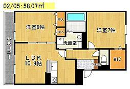 セレンディピティ矢倉[2階]の間取り