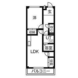 有松ヒルズA棟[2階]の間取り