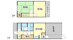 [テラスハウス] 兵庫県姫路市八代 の賃貸【/】の間取り