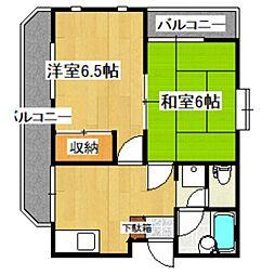 東京都杉並区浜田山1丁目の賃貸アパートの間取り