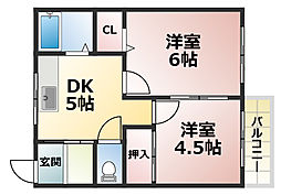 泉マンション[1階]の間取り
