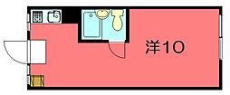 ハイツ銀閣苑[22号室]の間取り