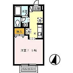 広島高速交通アストラムライン 安東駅 徒歩7分の賃貸アパート 1階1Kの間取り
