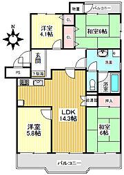 ドムール千里[4階]の間取り
