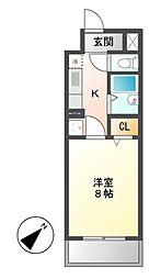 愛知県名古屋市中村区新富町2丁目の賃貸マンションの間取り
