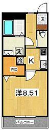 ジ・アパートメント下堀[306号室号室]の間取り