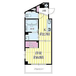 JR東海道・山陽本線 吹田駅 徒歩5分の賃貸マンション 5階1Kの間取り