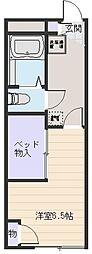 バウム フェルド[1階]の間取り