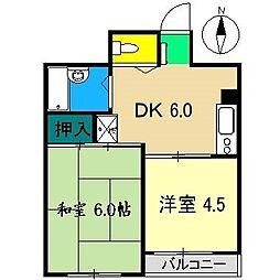 澤田マンション(南宝永町)[3階]の間取り