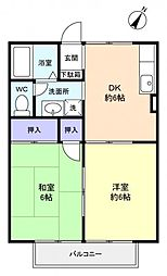 メゾンベールD[1階]の間取り