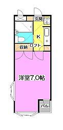 サンシェール渋谷[1階]の間取り
