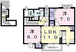 フォーリストベルプラス[2階]の間取り