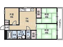 大福マンション[5階]の間取り