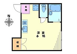 ハウス七浦[205号室]の間取り
