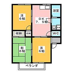 コーポ・トゥモロウ[1階]の間取り