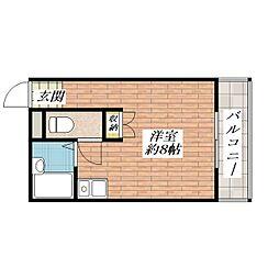 エレガントマンション[1階]の間取り