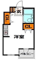 ローレルステート松屋町[6階]の間取り
