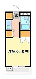 メゾン・ド・武蔵野 学生専用[1階]の間取り