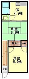 福井文化[2階]の間取り