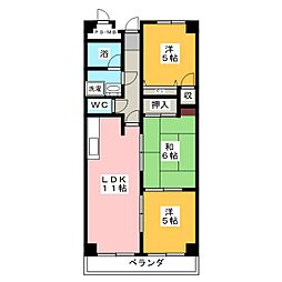 Quarter Village[2階]の間取り