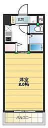 ロータリーマンション長田東[603号室号室]の間取り
